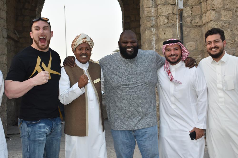 WWE wrestlers visit historic Jeddah