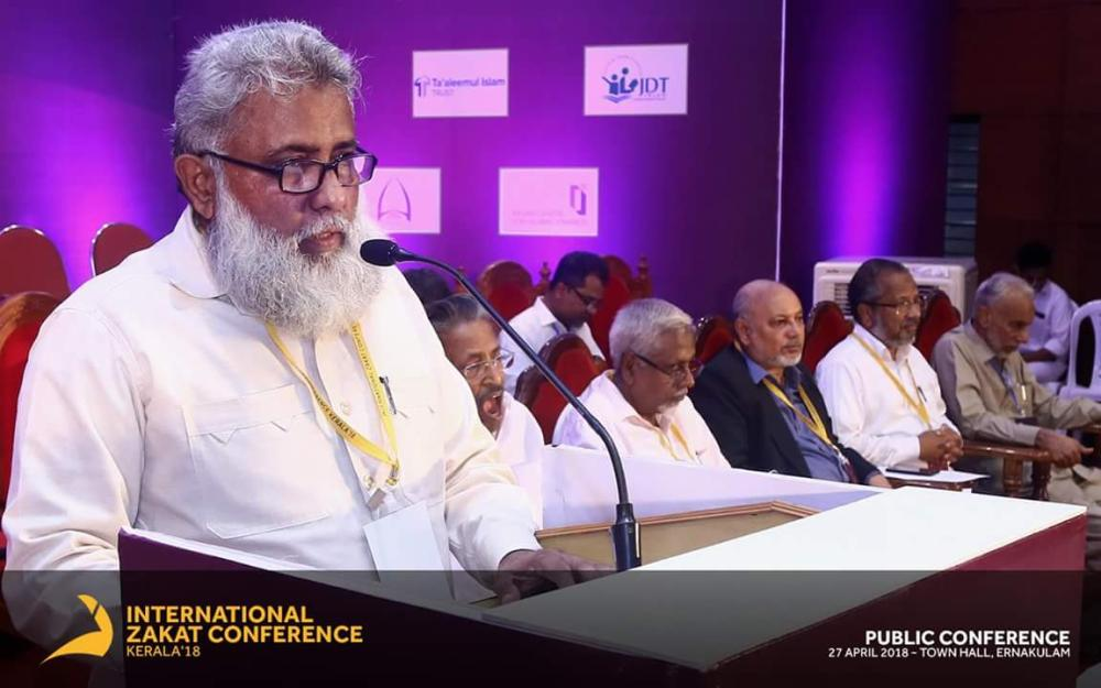 M.I. Abdul Aziz, president of Jamaat-e-Islami in Kerala, presides over the opening session.