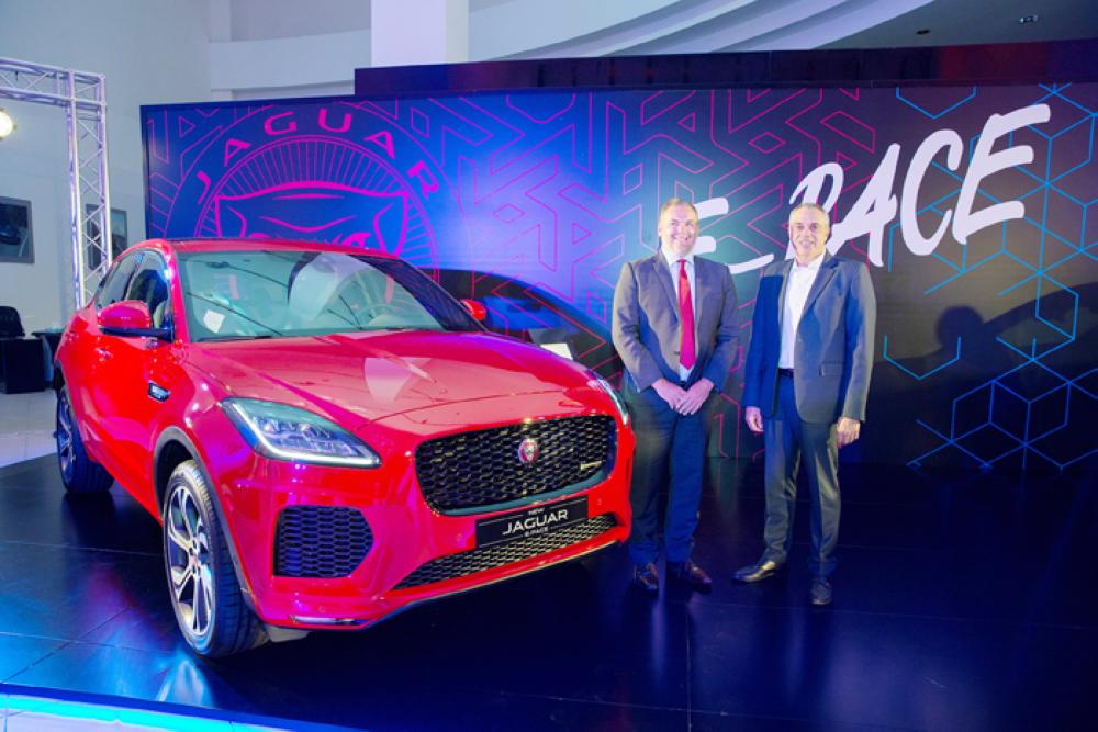 Stavros Paraskevaides, Senior Vice President, Premium Automotive Sector and Barrie Peach, Her Majesty's Counsel General at the launch