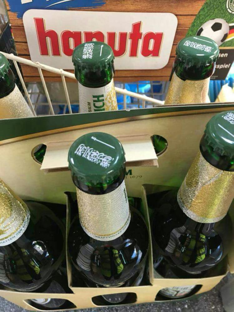 Saudi flag on German beer bottle cap disturbs Muslims