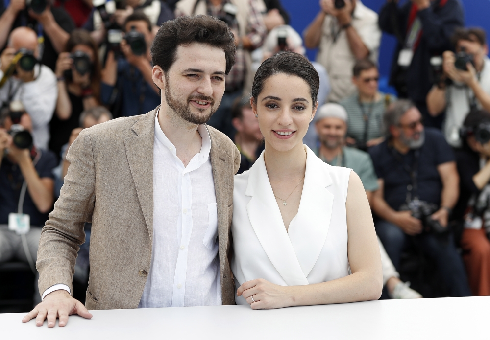 Egyptian director Abu Bakr Shawky and producer Elisabeth Shawky-Arneitz poses during the photocall for