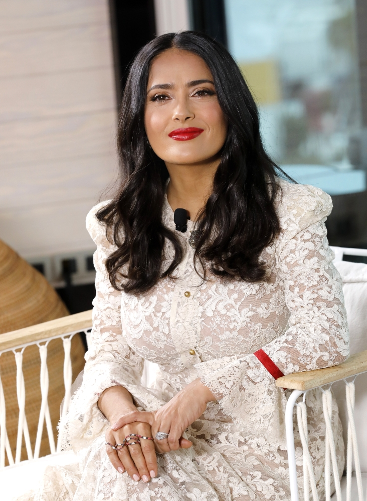 Actress Salma Hayek poses during the