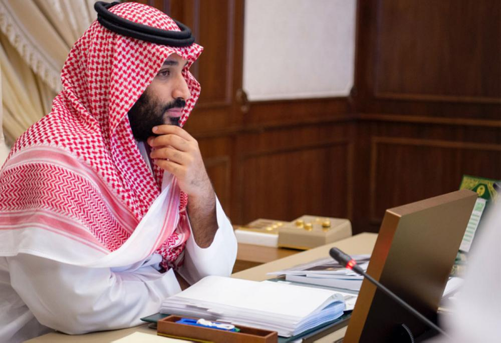 Crown Prince Muhammad Bin Salman, deputy premier, minister of defense and chairman of the Council for Economic and Development Affairs (CEDA), chairs the Council meeting in Jeddah on Tuesday evening. — SPA