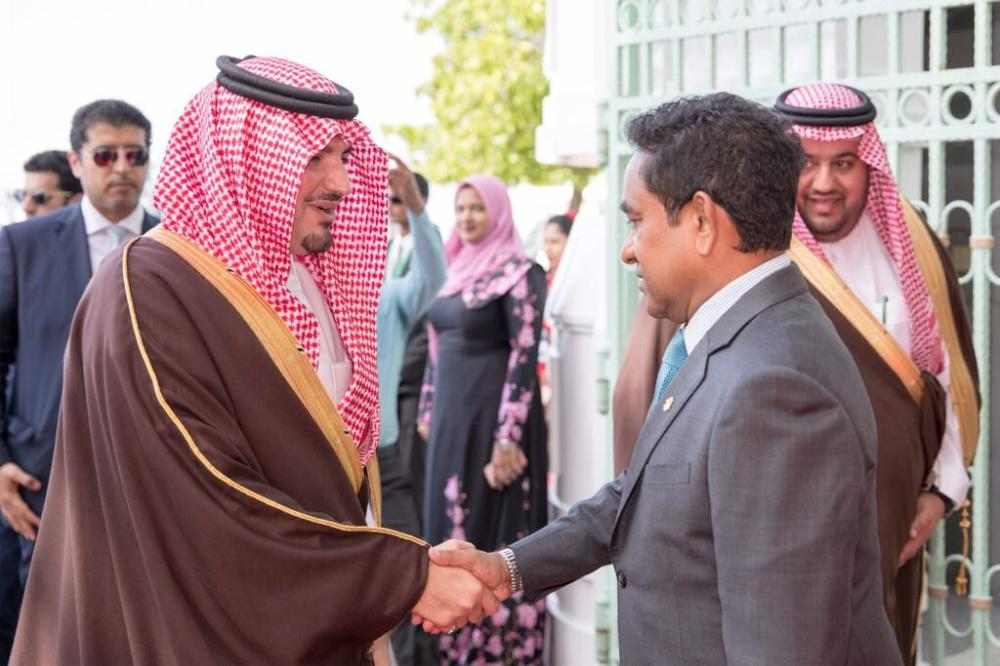 President of The Maldives receives Saudi Minister of Interior