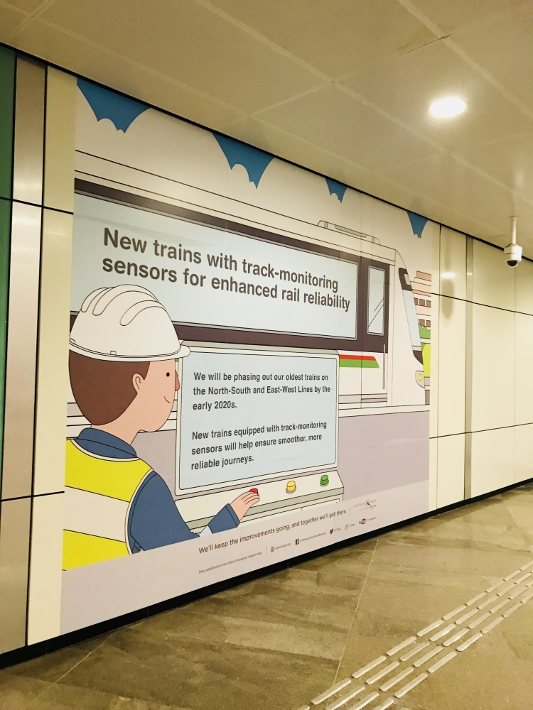Contactless payment recently implemented in Singapore's MRT public transport