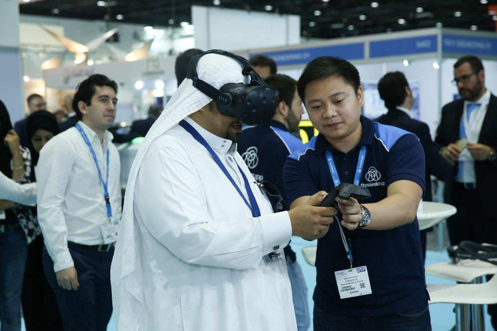 thyssenkrupp Elevator Technology: Virtual reality showroom being experienced
