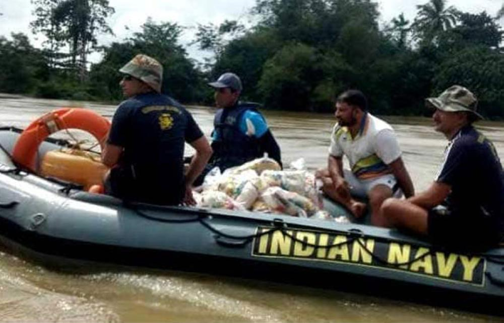 Indian navy personnel are the first responders in Sri Lanka when Cyclone Mora (2017) wreaked havoc in the island.