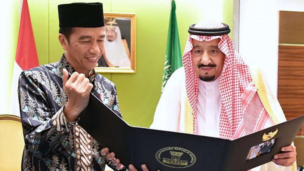King Salman with President Joko Widodo