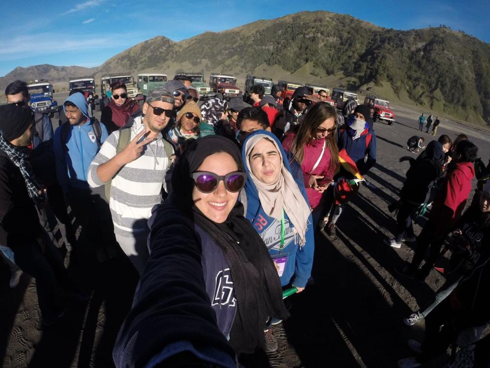 Hadeel and Friends on the program at Mount Bromo.
