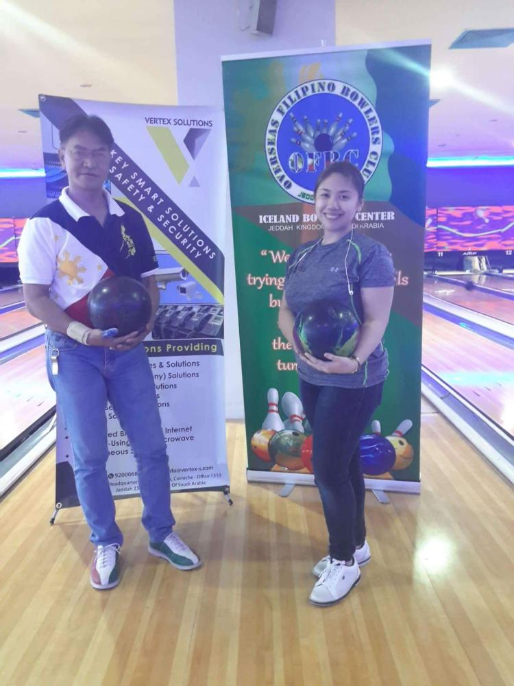 Bowlers of the Week Jhun Ejanda and Sharmaine Patayan