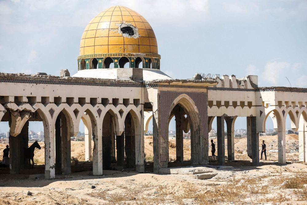 The destroyed and deserted terminal of the Gaza Strip's former Yasser Arafat International Airport in the Palestinian enclave's southern city of Rafah. — AFP