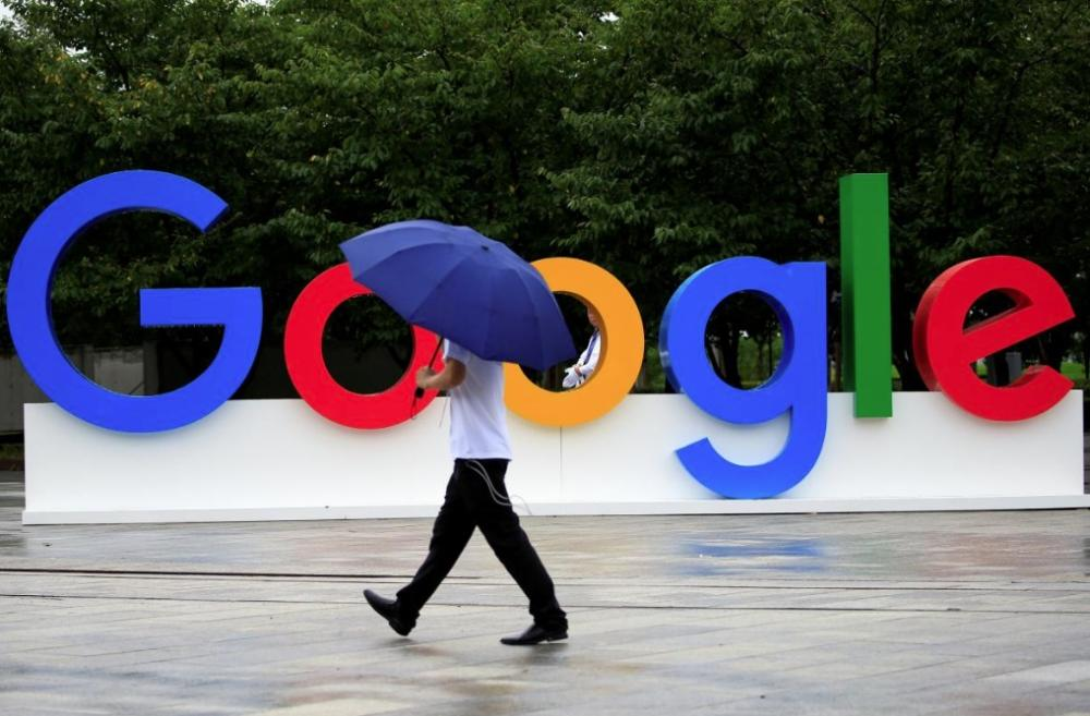 A Google sign is seen during the WAIC (World Artificial Intelligence Conference) in Shanghai, China. — Reuters