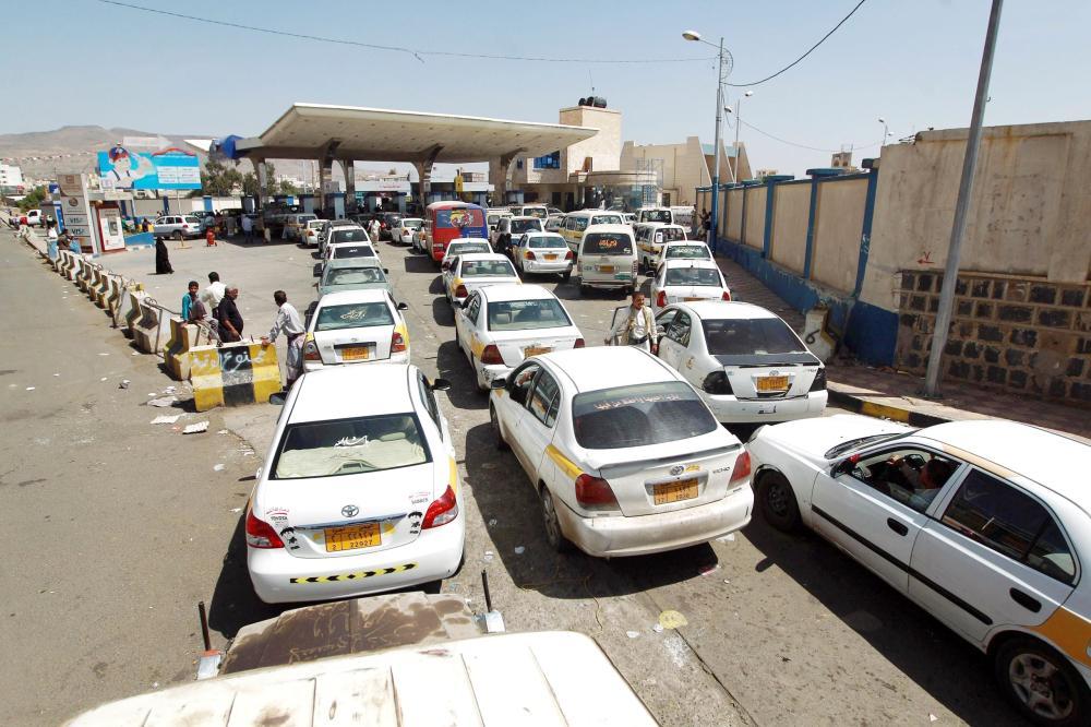 Gas stations in Yemen facing fuel shortage.