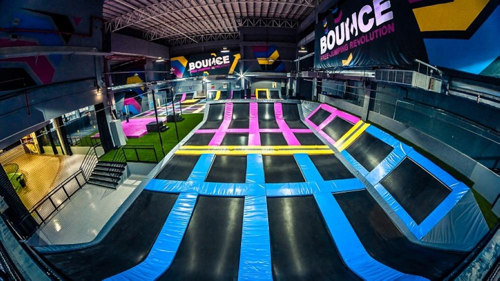 The 3,000-sq. meter venue on Riyadh's East-West Road will be packed with over 80 interconnected trampolines, a dodgeball arena, slam dunk, huge inflatable air bag and the famous X-Park.