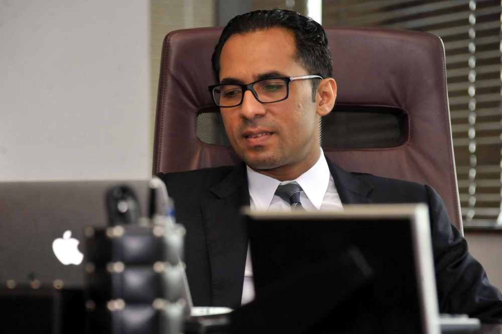 Tanzanian businessman Mohammed Dewji is seen in his office in Dar es Salaam in this April 23, 2015 file photo. — AFP
