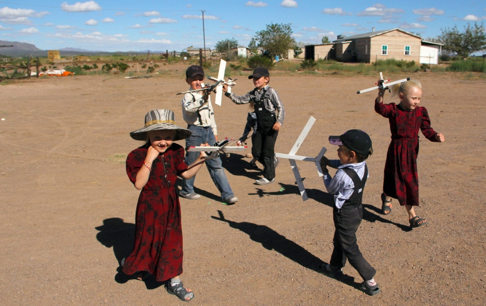 Mennonite children play at the Sabinal community, in Ascencion municipality, Chihuahua State, Mexico, in this Sept. 22, 2018 file photo. — AFP