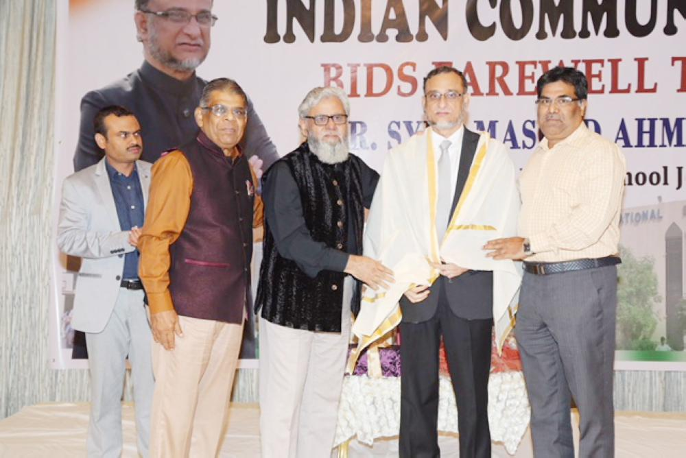 Indian community in Jeddah bids adieu to Syed Masood Ahmed