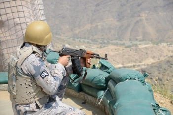 The Border Guard soldiers are on constant watch-out to prevent any incursions through the border.