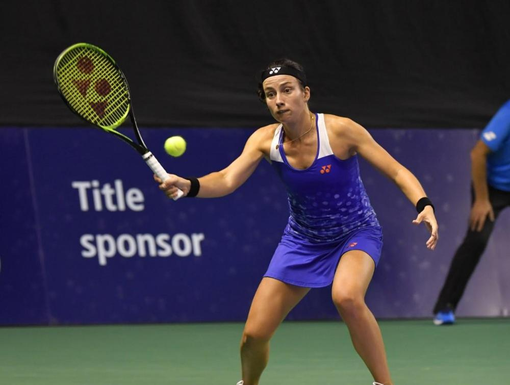 Latvian Anastasija Sevastova rallied from a set down to defeat qualifier Vera Zvonareva in Moscow.
