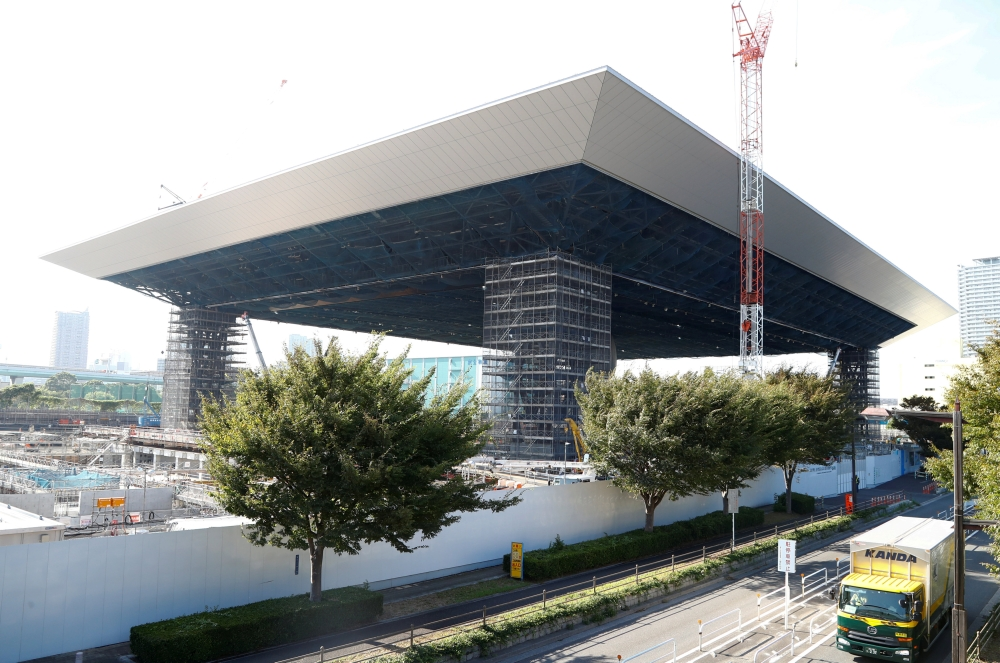 A view of the construction site of the Aquatic Center for Tokyo 2020 Olympic games in Tokyo, Japan, is seen in this file photo. — Reuters