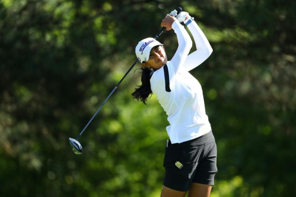 Indian golfer Aditi Ashok is the only player from her country on the prestigious LPGA Tour. — AFP