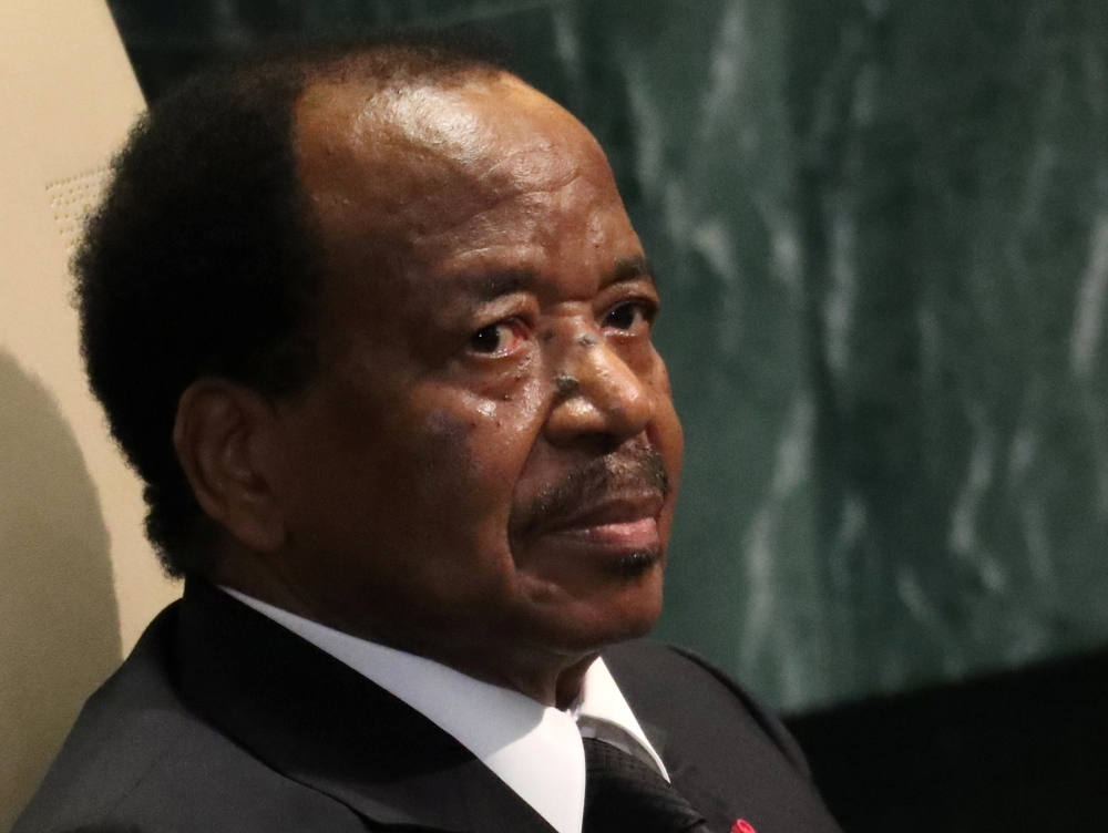 President Paul Biya of Cameroon waits to address the 71st United Nations General Assembly in Manhattan, New York, in this Sept. 22, 2016 file photo. — Reuters