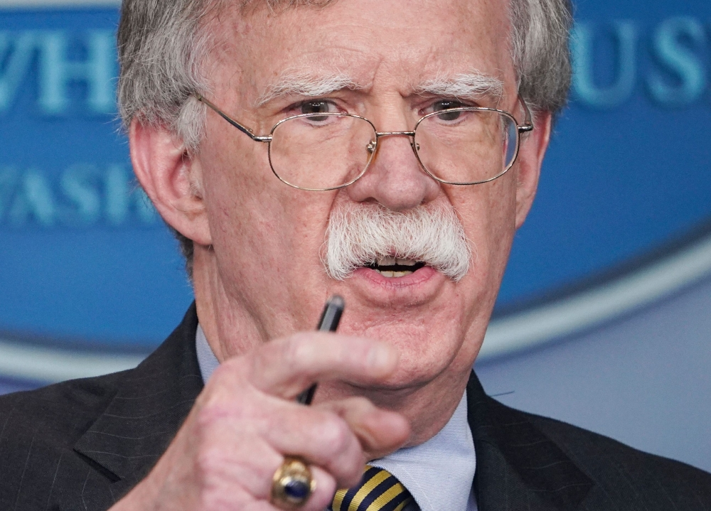 US National Security Adviser John Bolton speaks during a briefing in the Brady Briefing Room of the White House in Washington in this Oct. 3, 2018 file photo. — AFP
