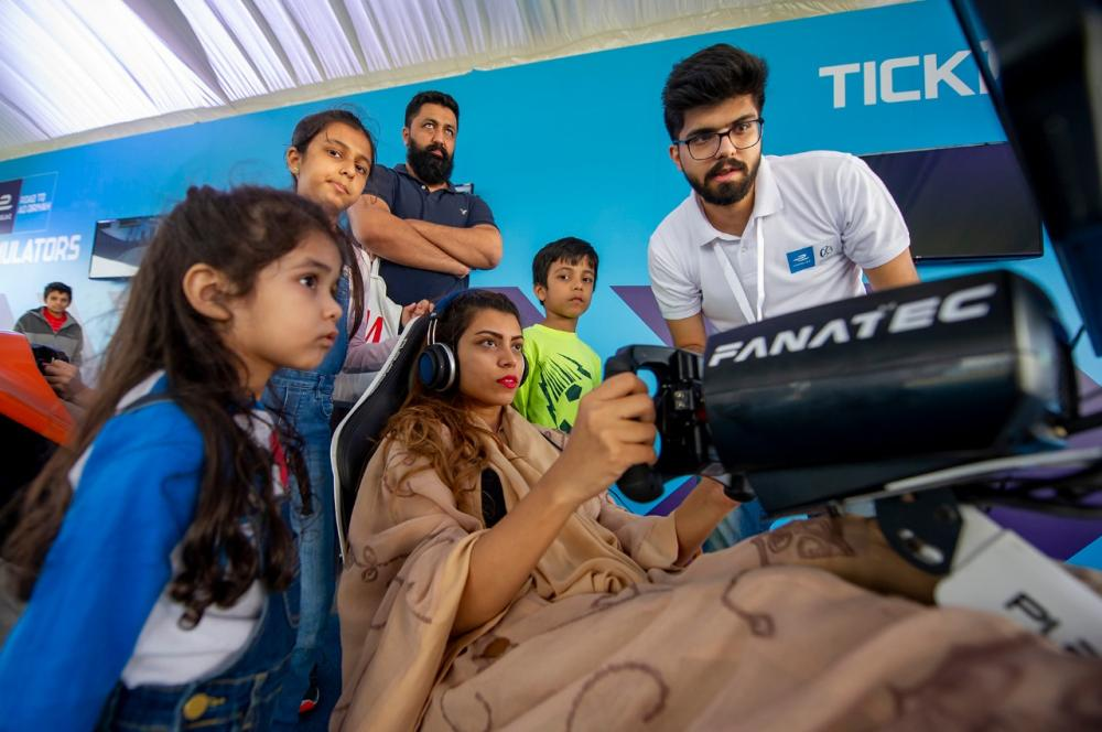 The weekend brought a first taste of the world-class motorsport action and family entertainment as Saudis of all ages were introduced to a brand new Gen2 Formula E car and popular racing simulators in Al-Khobar. — Courtesy photo
