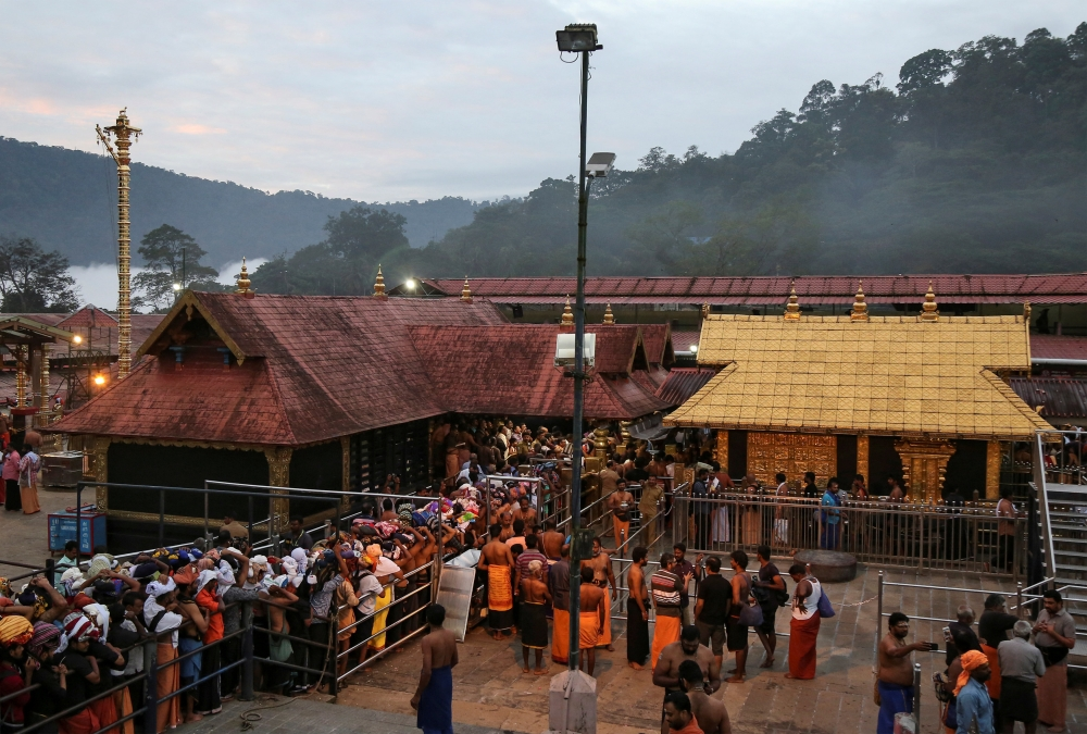 Hindu devotees wait in queues inside the premises of the Sabarimala temple in Pathanamthitta district in the southern state of Kerala, India, in this Oct. 18, 2018 file photo. — Reuters