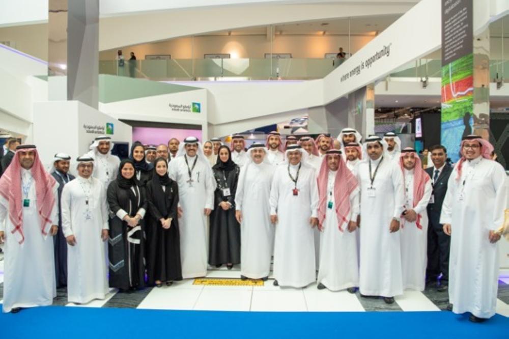 CEO Amin Nasser and Saudi Aramco delegation at ADIPEC