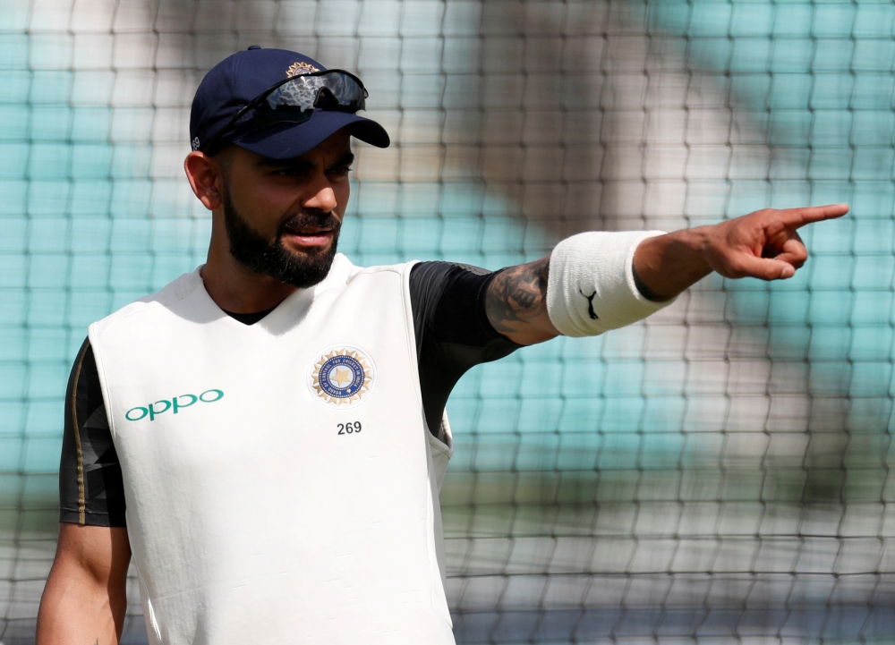 India's Virat Kohli during nets at the  Kia Oval, London, Britain, in this file photo. —  Reuters