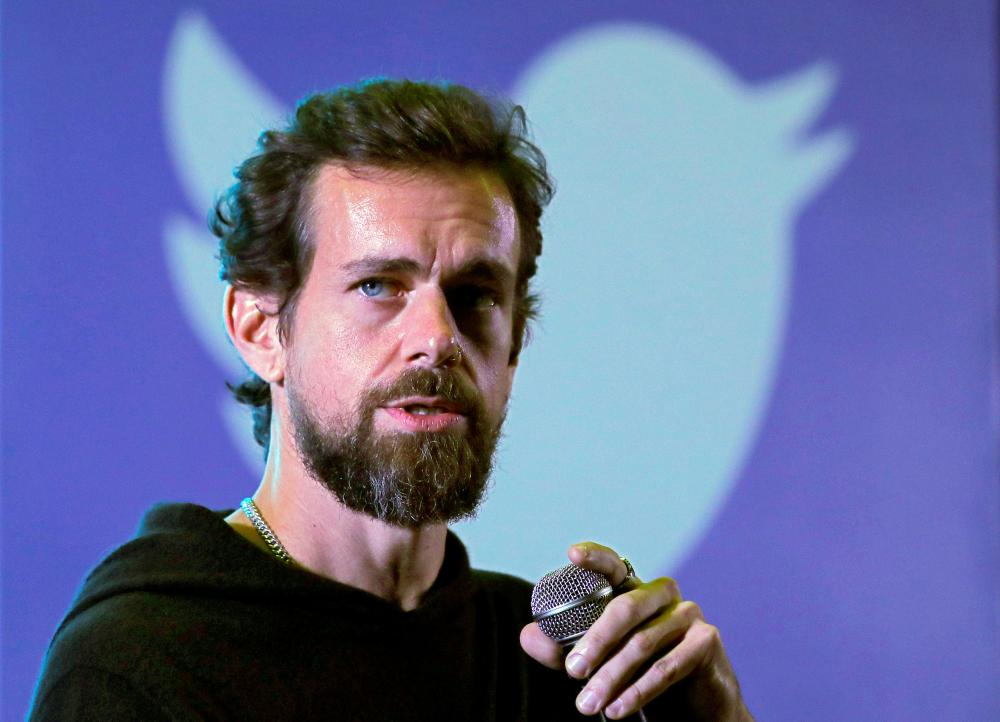 Twitter CEO Jack Dorsey addresses students during a town hall at the Indian Institute of Technology (IIT) in New Delhi, India, in this Nov. 12, 2018 file photo. — Reuters