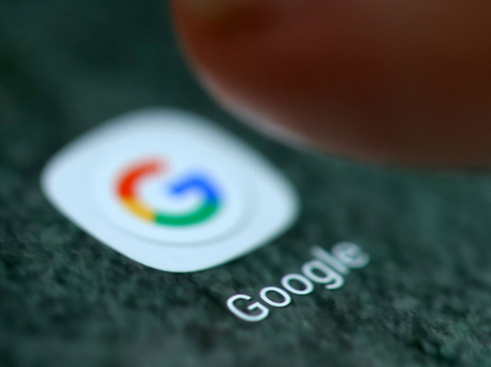 The Google app logo is seen on a smartphone in this picture illustration taken in this file photo. — Reuters
