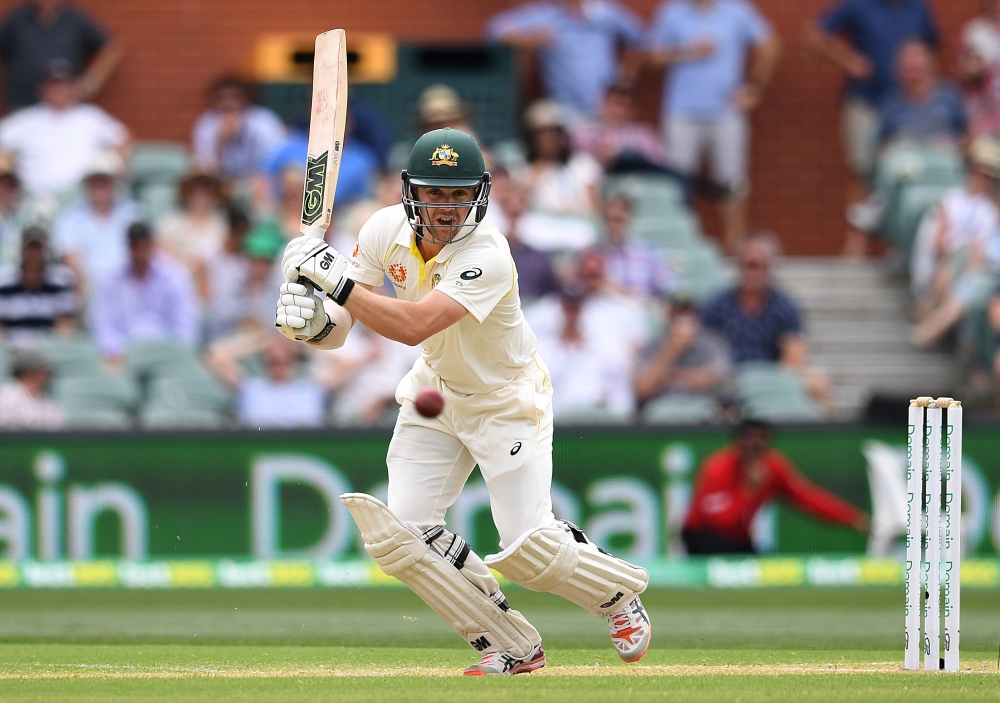 Australia's batsman Travis Head plays a shot on day two of the first Test match against India at the Adelaide Oval in Adelaide, Australia, on Friday. — Reuters