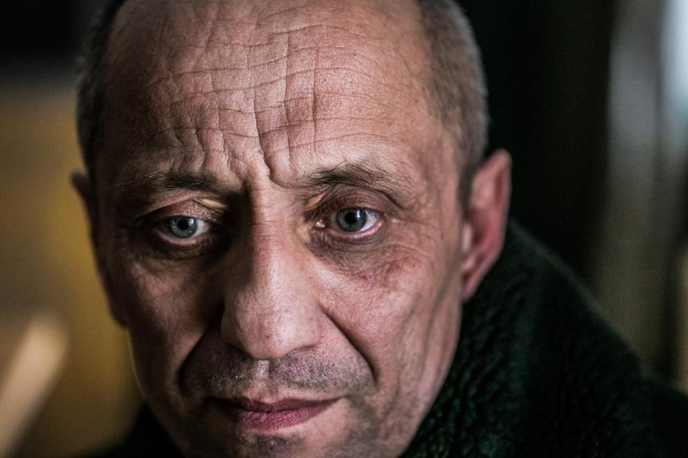 A picture taken on Dec.13, 2017 shows serial killer Mikhail Popkov in Irkutsk, Siberia, Russia.