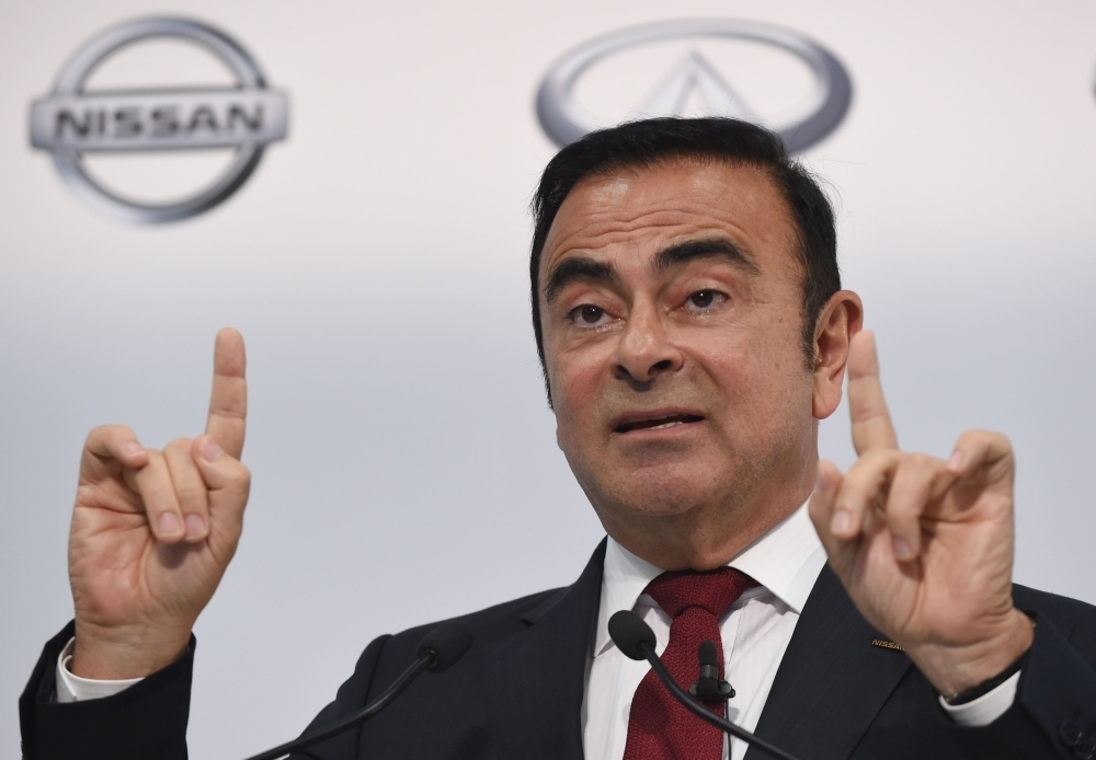 Nissan Motors Chairman and CEO Carlos Ghosn speaks during the company's financial results press conference in Yokohama, Japan, in this May 13, 2015 file photo. — AFP