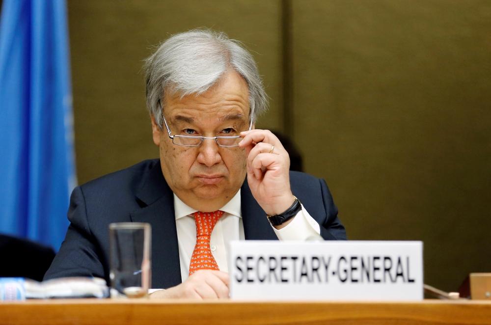 UN chief Antonio Guterres is seen in this file photo. — Reuters