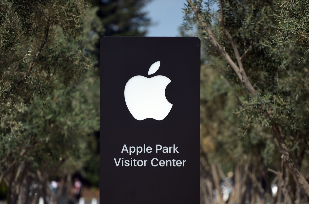 In this file photo, a sign shows the new Apple Park Visitor Center at Apple's new headquarters in Cupertino, California. Apple unveiled plans on Thursday, for a $1 billion campus in Texas that will create jobs for the tech giant outside Silicon Valley, a move made without the fanfare of the recent Amazon headquarters bidding war. The new campus — for engineering other functions, but not manufacturing — will be near the tech giant's existing facility in Austin and initially accommodate 5,000 new employees, with room to grow to 15,000. — AFP