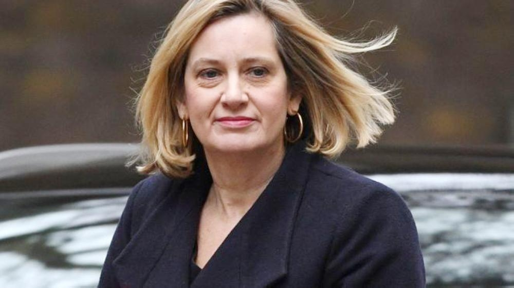 Britain's Work and Pensions Minister Amber Rudd