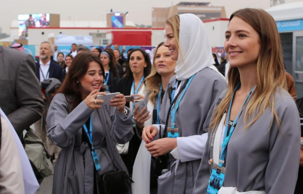 Western tourists are seen attending a Formula E race in Riyadh, Saturday. — Reuters