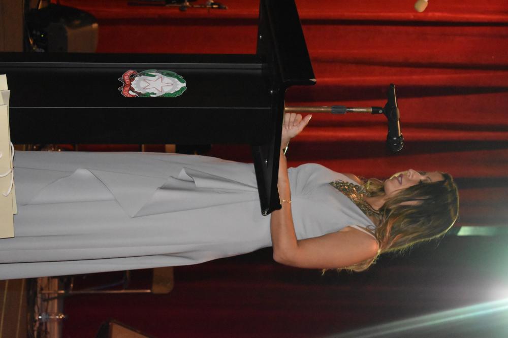 Italian Consul General Elisabetta Martini giving her farewell speech.