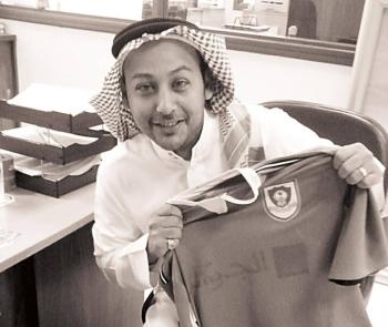 Muhyudeen Baz, a die-hard fan of Al-Ahli Club, never missed a match played by his team in Jeddah.