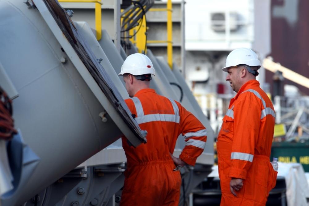 Employees work at the Uljanik shipyard in Pula, Croatia, in this Nov. 12, 2018 file photo. — AFP