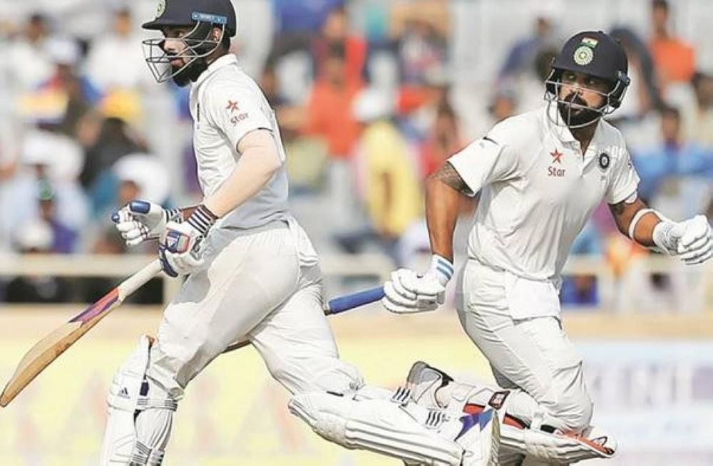 Lokesh Rahul and Murali Vijay