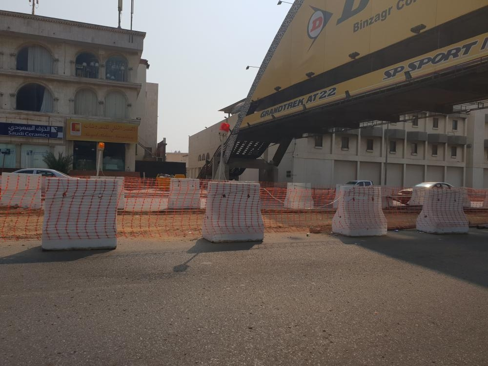 Construction of the underpass started at the intersection of Prince Muhammad Bin Abdulaziz (Tahlia) Street and Madinah Road in Jeddah. — SG photo by Abdul Rahman M. Baig