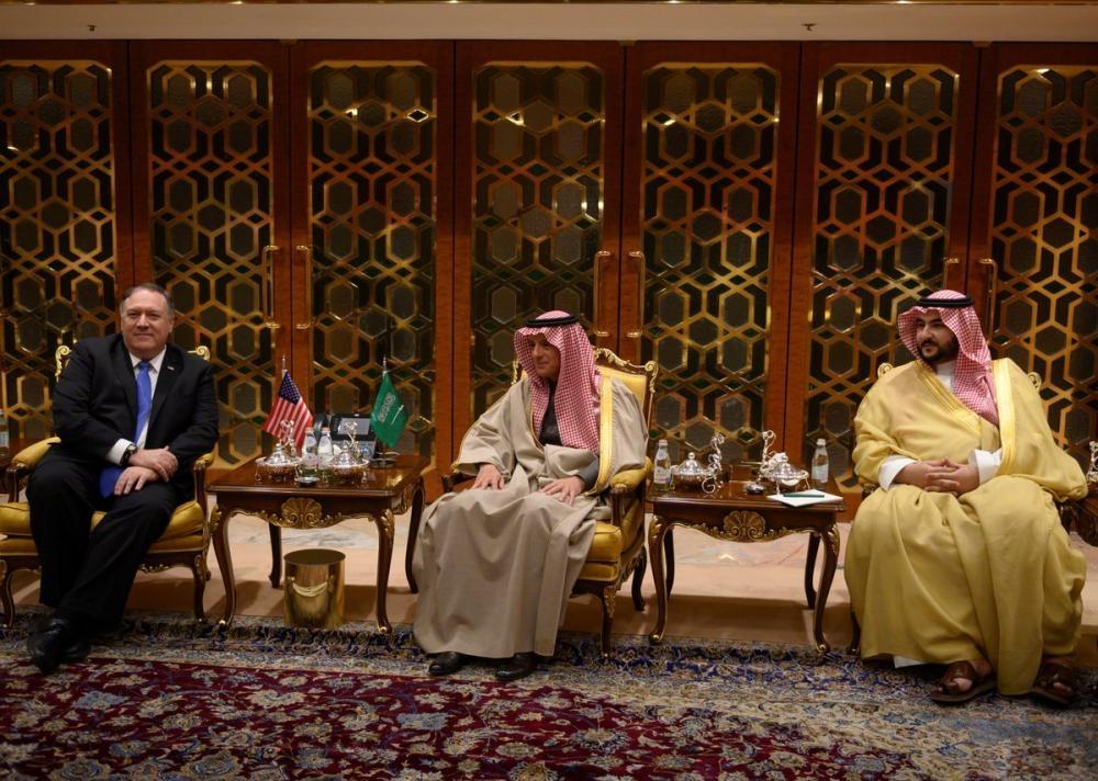 Pompeo arrives in Riyadh, holds talks with Al-Jubeir