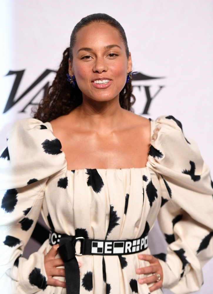 Alicia Keys attends Variety's Power of Women: New York at Cipriani Wall Street in New York City in this file photo. American singer and songwriter Alicia Keys will host the Grammy Awards next month, she announced on Tuesday. — AFP