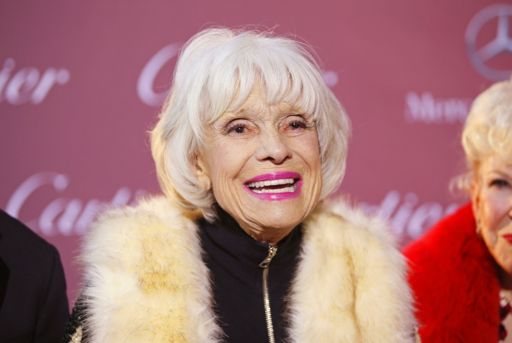 Comedian Carol Channing poses at the 26th Annual Palm Springs International Film Festival Awards Gala in Palm Springs, California, in this file photo. — Reuters