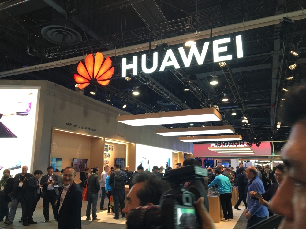 In this recent photo, the Huawei booth is seen during CES 2019 consumer electronics show at the Las Vegas Convention Center in Las Vegas, Nevada.  — AFP