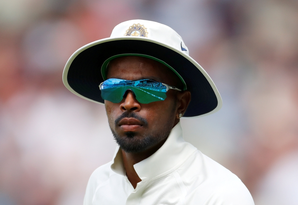 India's Hardik Pandya seen in this file photo during the first Test against England at  Edgbaston, Birmingham, Britain. — Reuters